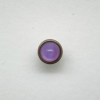 ヴィンテージガラスボタン(ライトピンク)