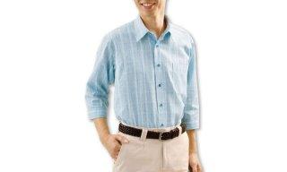涼感7分袖カジュアルシャツ