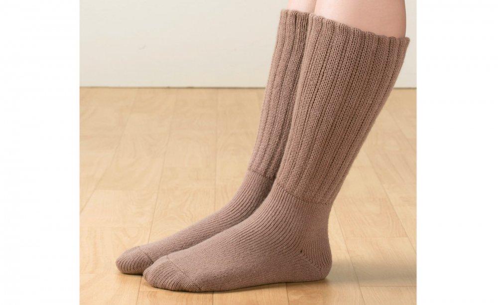 毛布のような靴下ロング丈