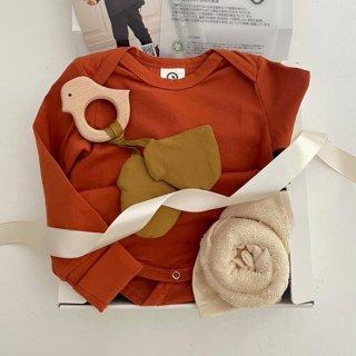 【オンラインショップ限定★送料無料】New Baby Swaddle Gift Set(ダスティピンク)