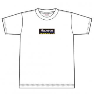 Hapyson ボックスロゴTシャツ〈白〉