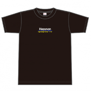 Hapyson ブランドロゴTシャツ〈黒〉