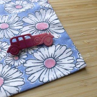 ブローチ 車 ピンク