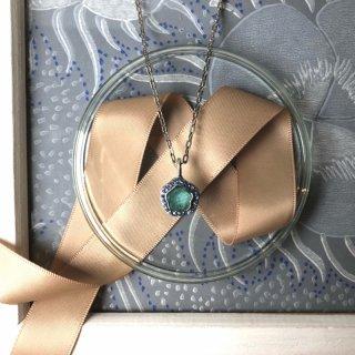 ネックレス マット水色ブルーグレー x S