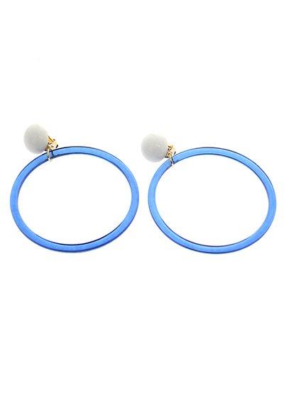 White Blue クリアリングイヤリング