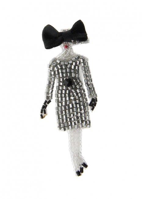 Dior Silhouette - Gray Dress ブローチ