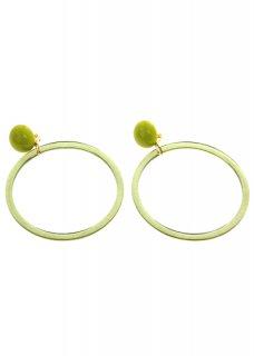 Yellow-Green クリアリングイヤリング