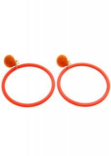 Orange リングイヤリング