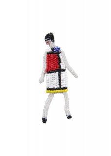 Mondrian 片耳ピアス