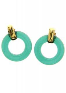 Oxidised Green サークルイヤリング