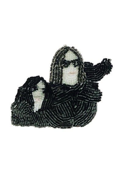 John et Yoko black ブローチ