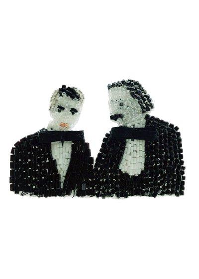Einstein et Charlot ブローチ