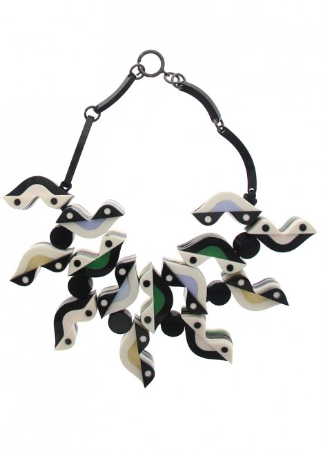 Two Birds Reversible Necklace