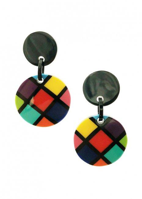 Multi-checkered イヤリング