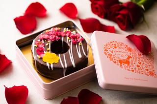 【送料無料】バレンタイン限定 選べるオリジナル缶付き チョコレートソフトバウム ギフト