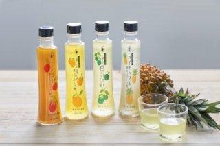 飲むフルーツ酢 4本セット(シークヮーサー、パイナップル、マンゴー、タンカン)