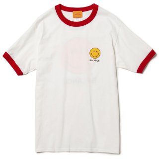 Whatever Smile Trim Tee (White/Red)