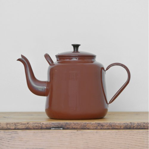 Brown Enamel Big Kettle