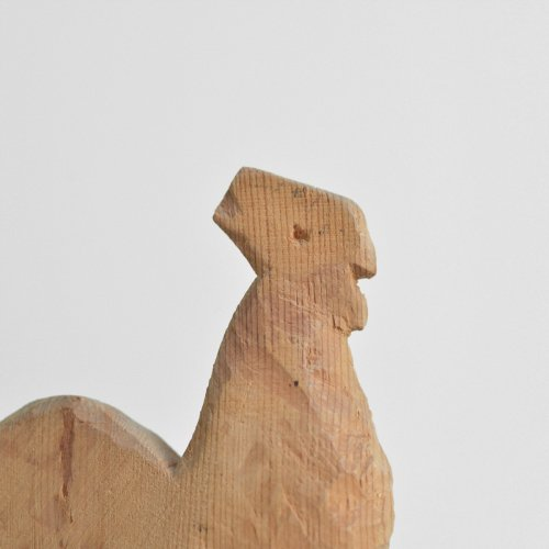 Unfinished Wooden Rooster