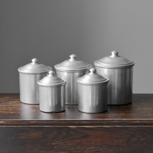 5 Stackable Canisters Set