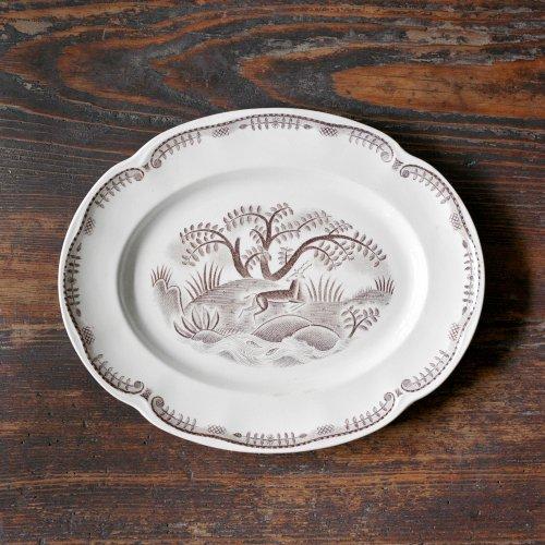 Tibet Deer Oval Plate