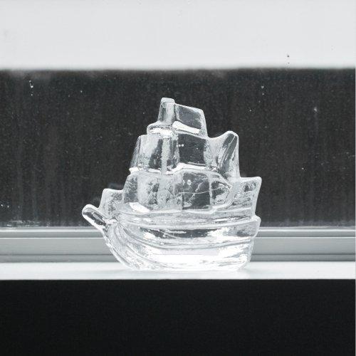 Pukeberg Glass Sailing Ship