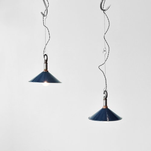 Navy Enamel Pendant Lamp