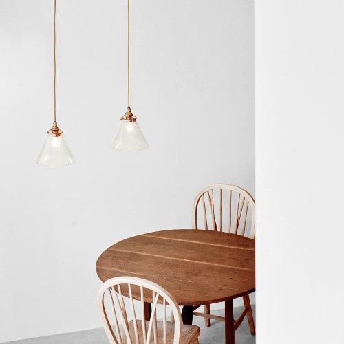 Glass Cone Shade Lamp