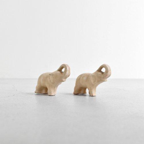 Pair Ceramic Elephant Figure