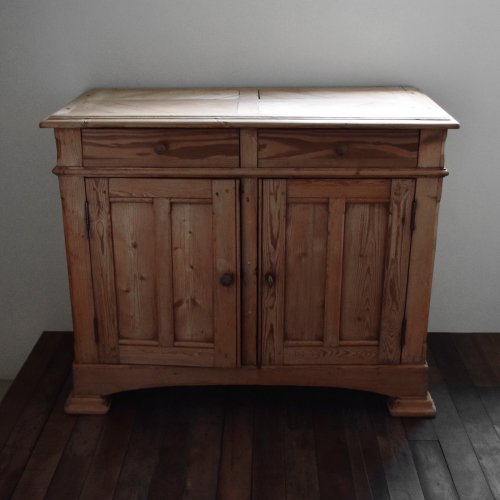 Herringbone Top Pine Cabinet