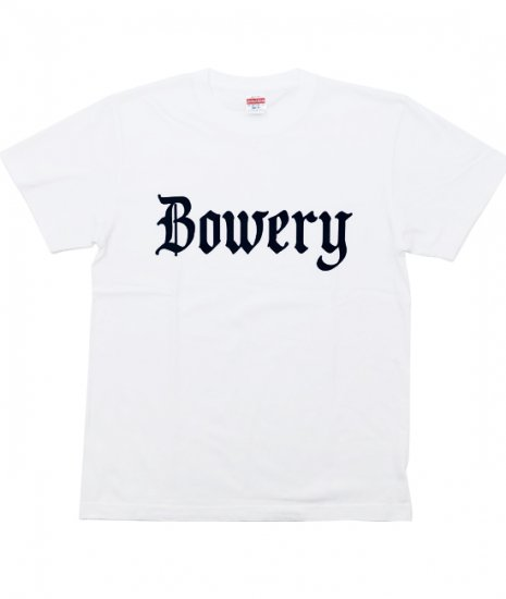 <img class='new_mark_img1' src='https://img.shop-pro.jp/img/new/icons60.gif' style='border:none;display:inline;margin:0px;padding:0px;width:auto;' />BOWERY Tshirts WHT