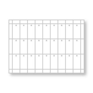 ★100-01 手作りラベル(穴あり) 60mm×30mm 横9列×縦3列
