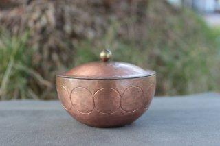 大桃沙織 銅の蓋付小物入れ