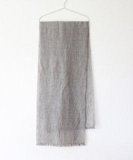 手織りのリネンストール