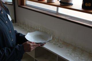 6寸八角鉢  粉引