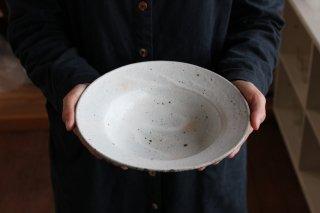 7寸リム丸鉢  粉引 b.