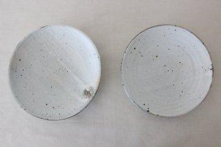 6寸平鉢  粉引