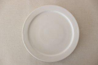 5寸リム皿  白釉