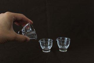 ガラス片口ミニ高台  / ガラス工房橙