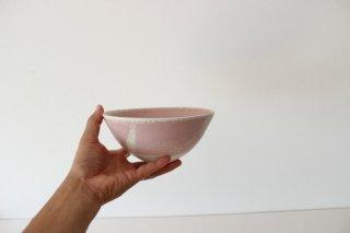 山崎裕子 340  丸鉢B ピンク結晶