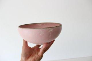 山崎裕子 339  丸鉢A ピンク結晶