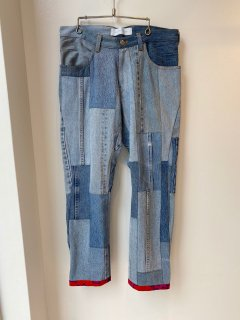 PERMANENT MODERN  patchwork denim pants