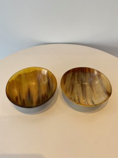 Ziya Kenya   cow horn bowl set (2 pieces)