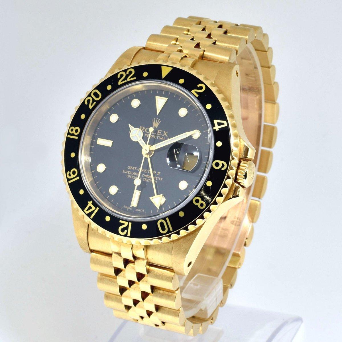 【店頭販売品】ロレックス/K18YG/GMTマスター�/16718/A番/オートマチック/腕時計/ROLEX/定価:約330万/男性用/メンズ/イエローゴールド↑