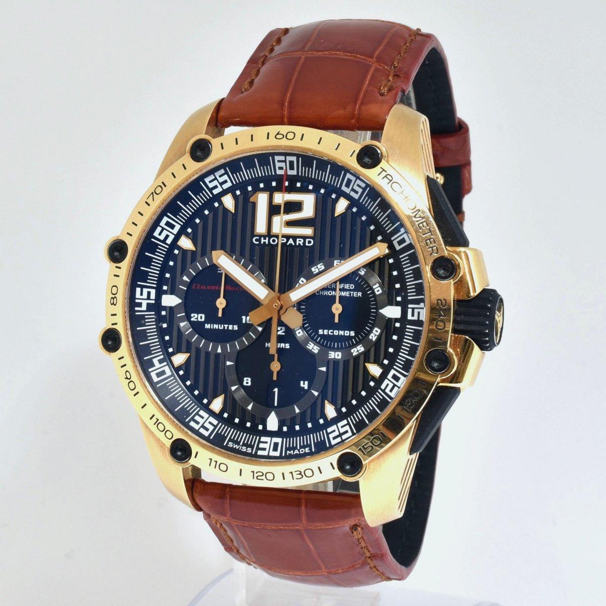 ショパール/K18YG/ミッレミリア・クラシックレーシング/オートマチック/クロノグラフ/腕時計/限定/CHOPARD/定価:約233万/男性用/メンズ/イエローゴールド↑