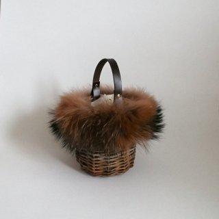 Furry Basketry mini #Brown
