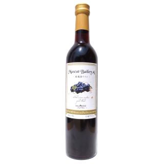山形県産MuscatBaileyA100%赤ワイン500ml