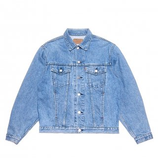 TEAR UP DENIM JACKET (IndigoxGreen)<img class='new_mark_img2' src='https://img.shop-pro.jp/img/new/icons47.gif' style='border:none;display:inline;margin:0px;padding:0px;width:auto;' />
