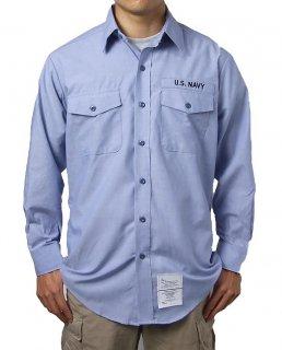 アメリカ海軍 U.S.NAVY シャンブレーシャツ(新品)A62N-