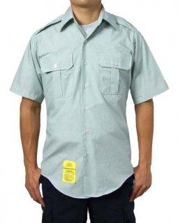 アメリカ陸軍 U.S.ARMY ライトグリーン メンズ 半袖ドレスシャツ(新品)AMY-SS-N